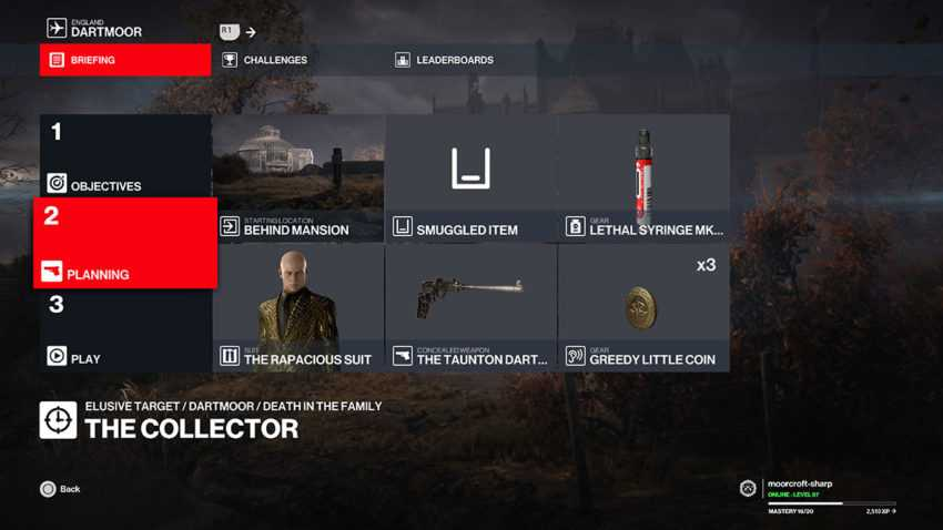 the-collector-elusive-target-loadout-hitman-3